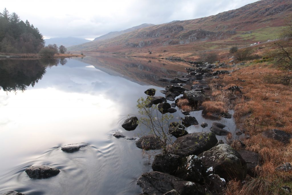 welsh mountain and lake